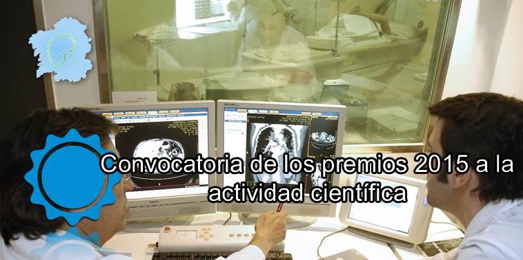 Convocatoria premios 2015 a la actividad científica