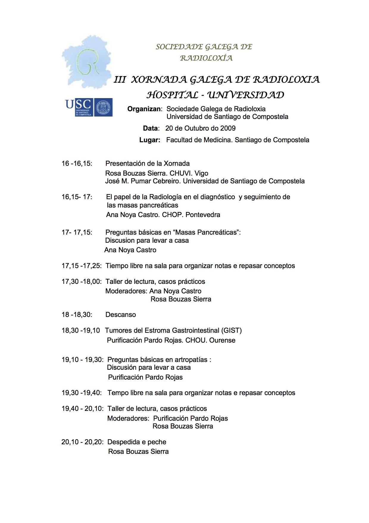 2009-10-20-iii-jornada-sgr-hospital-universidad-programa